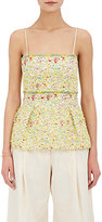 BY. Bonnie Young Women's Floral-Embellished Silk-Blend Bustier Top