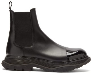 Alexander McQueen Chunky-sole Leather Chelsea Boots - Black