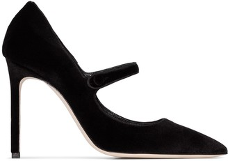 Magda Butrym Mary Jane 105mm velvet pumps