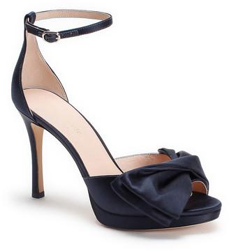 Bridal Bow Satin Ankle-Strap Sandals