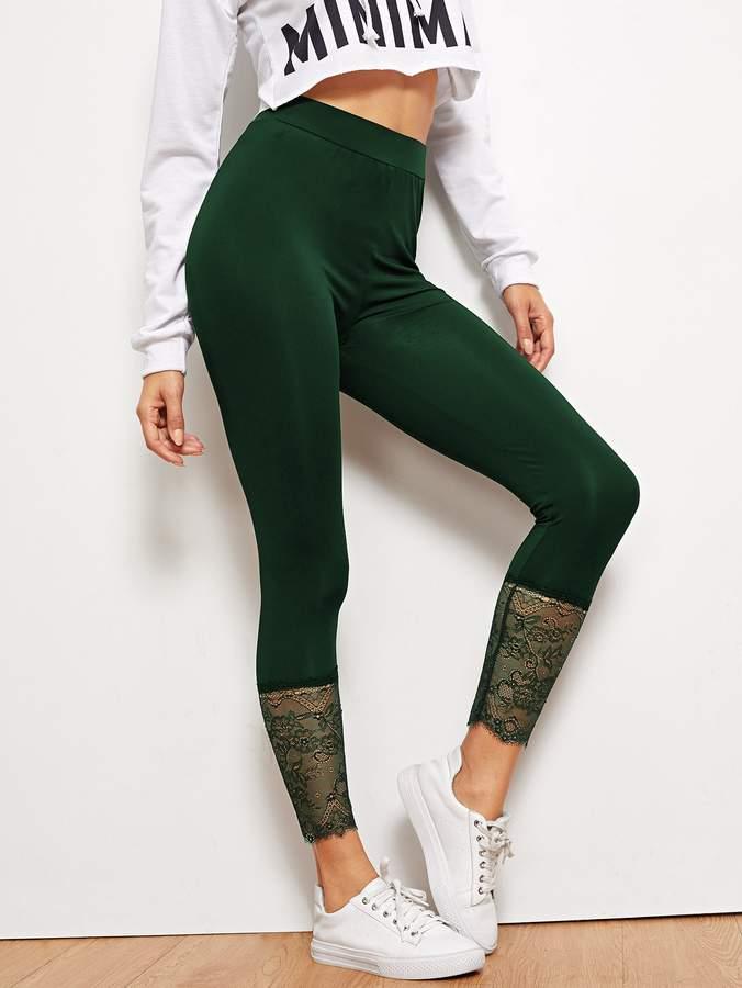 e572383fe1 Lace Waist Leggings - ShopStyle