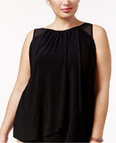 Miraclesuit Plus Size Solids Mariella Tankini Top