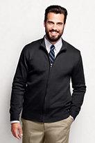 Lands' End Men's Regular Performance Zip Cardigan Sweater-Black