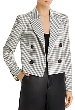 Lucy Paris Cropped Plaid Blazer - 100% Exclusive