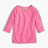 J.Crew Girls' sparkle-trim popver sweater