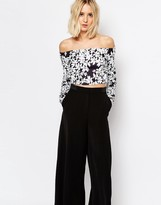 Weekday Flower Print Off The Shoulder Top