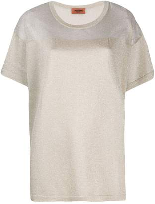 Missoni metallic knitted T-shirt