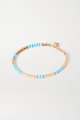 Roxanne Assoulin Pool Enamel And Gold-tone Necklace - Light blue