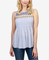Lucky Brand Cotton Embroidered Tank Top