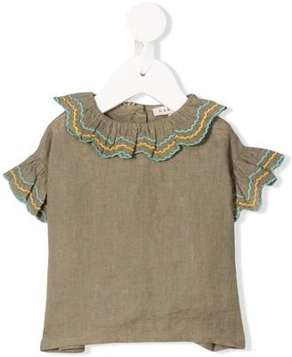 Caramel Hammersmith ruffle-trim blouse