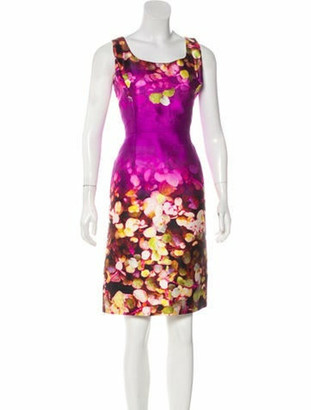 Oscar de la Renta Silk-Blend Dress Violet
