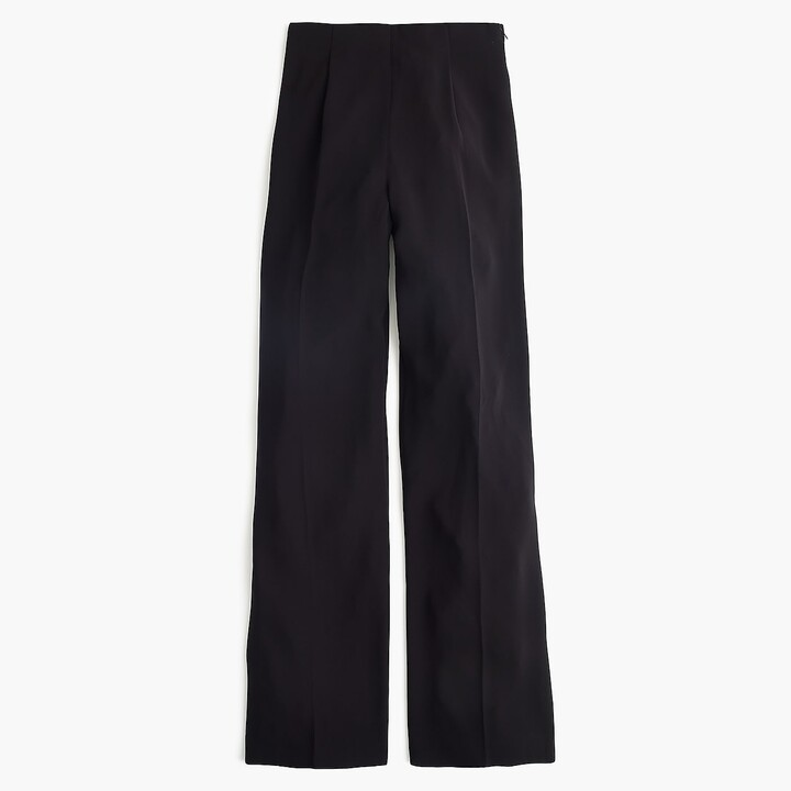 Thumbnail for your product : J.Crew Wide leg pleated pant in matte crepe