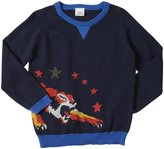 Egg by Susan Lazar Knit Intarsia Tiger Sweater (Toddler/Kid) - Navy-2T