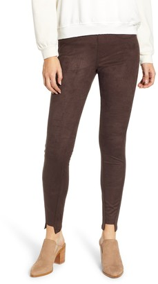 Hue Faux Suede Step Hem Leggings