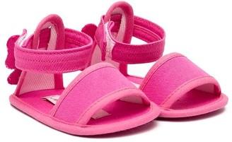 Miss Blumarine Twill Sandals