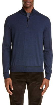 Canali Quarter Zip Wool Pullover