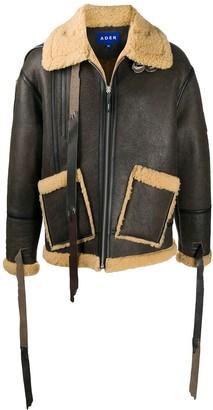 Ader Error Shearling Trimmed Zip-Up Jacket