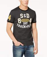 Superdry Men's Track & Field Logo-Print Ringer T-Shirt