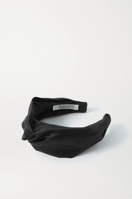 Jennifer Behr Twist Silk-satin Headband - Black