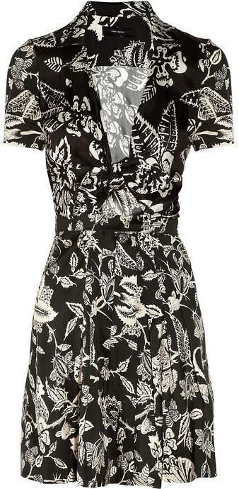 Isabel Marant Mira printed silk-poplin dress