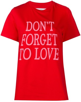 Alberta Ferretti Don't Forget To Love print T-shirt