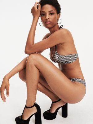 Tommy Hilfiger Zendaya Check High-Cut Bikini Bottoms