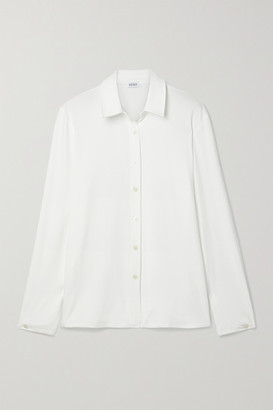 Leset Dylan Stretch-jersey Shirt - White