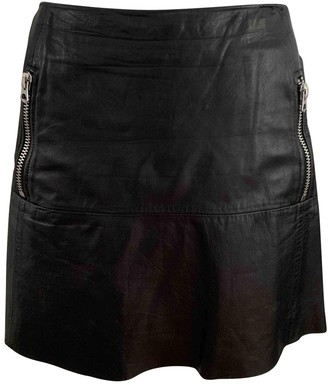 Acne Studios Black Leather Skirts