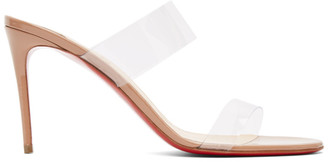 Christian Louboutin Beige Just Nothing 85 Heeled Sandals