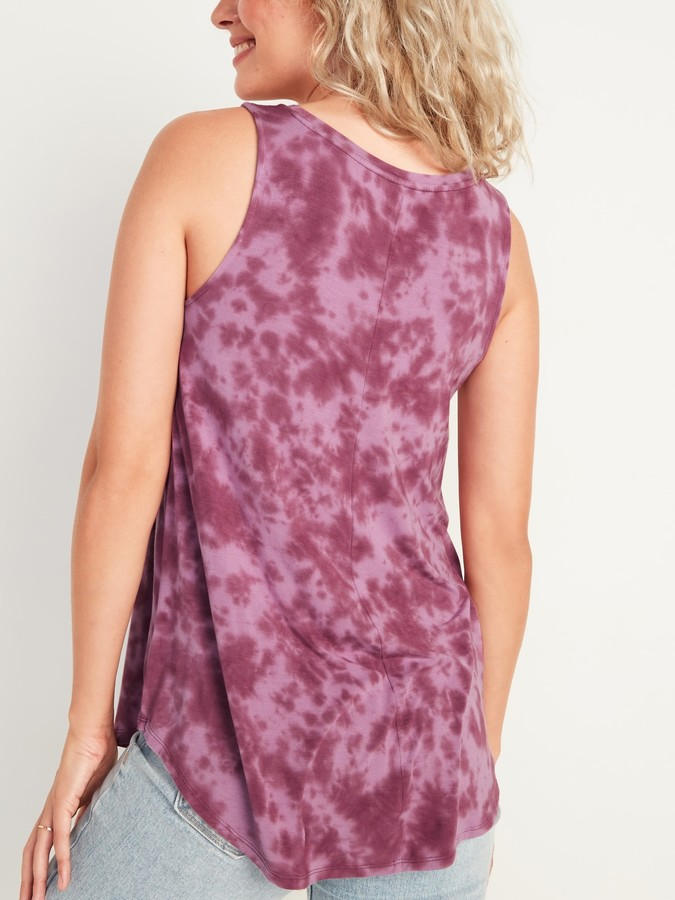 Thumbnail for your product : Old Navy Luxe Tie-Dye High-Neck Tank Top for Women