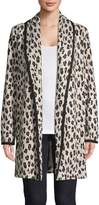 Calvin Klein Leopard-Print Open-Front Cardigan