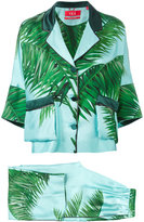 F.R.S For Restless Sleepers - palm print trouser suit - women - Silk - L