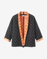 Toast Ikat Kantha Bed Jacket