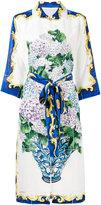 Dolce & Gabbana bouquet print button up dress