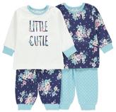 George 2 Pack Floral Print Pyjamas