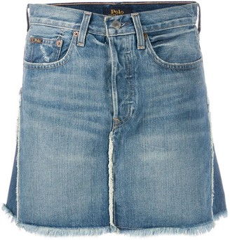 Polo Ralph Lauren Two-Tone Denim Skirt