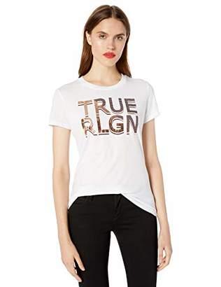 True Religion Women's Split Lines True Crew TEE