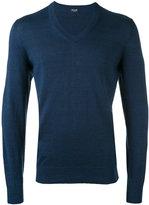 Drumohr V-neck jumper - men - Linen/Flax/Polyamide - 48