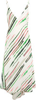 Emilio Pucci Asymmetric striped crepe midi dress