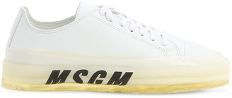 MSGM Leather Low Top Sneakers