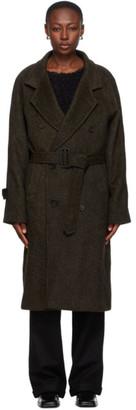Winnie New York Green Wool Raglan Sleeve Coat