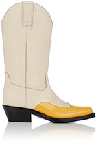 Calvin Klein Women's Spazzolato Leather Cowboy Boots