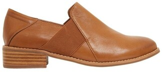 Easy Steps Baron Mid Brown Glove Flat Shoes Lt