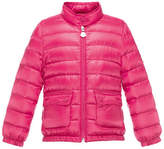 Moncler Lans Flap-Pocket Lightweight Down Puffer Jacket, Fuchsia, Size 4-6