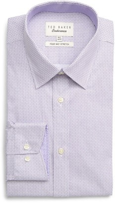 Ted Baker Endurance Thebig Extra Slim Fit Stretch Geometric Dress Shirt