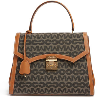 Mark Cross Madeline Lady Mc Jacquard Top Handle Bag