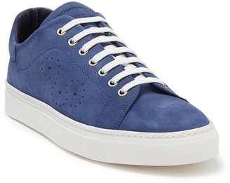 Bugatchi Solid Nubuck Leather Sneaker