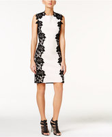 Betsey Johnson Floral-Applique Sheath Dress