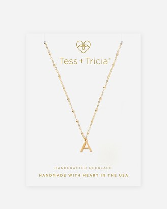 Express Tess + Tricia Gold Simple Initial Necklace