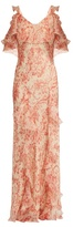 Vilshenko Ladonna floral-print silk dress